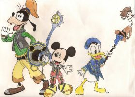 The Three Musketeers (and Sora..) by KingdomOfLight1