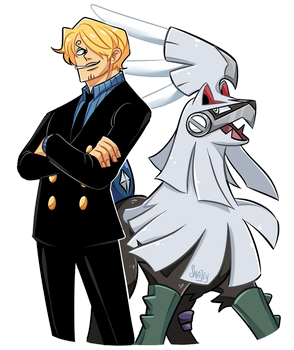 Sanji and Silvally by SnajeyArt