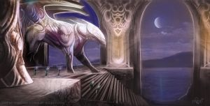 Temple Guardian by thraxllisylia