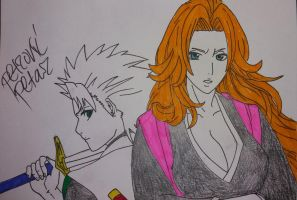 Bleach - Hitsugaya Toshiro and Matsumoto Rangiku by hikenfushicho