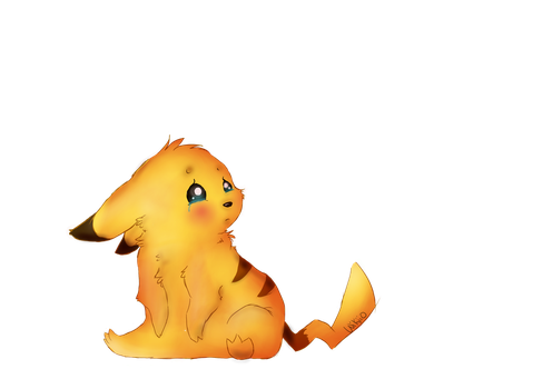 Sad Little Pikachu by wikiio