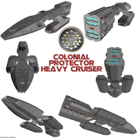 Colonial Protector Heavy Cruiser (TOS) by Chiletrek