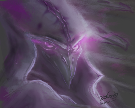 Nevermore Reaper - Digital Painting by Zalonio