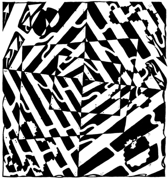 Chaos Maze Optical Illusion by ink-blot-mazes