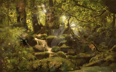 Finished Elfwood 1 by cartuneman