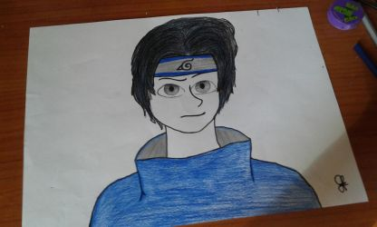Art Trade Naruto Sasuke by GioRJ-TheBlackNinja