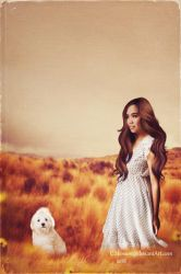 Marie and her dog named Princess by cherie-stenson