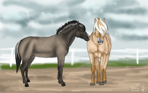 Aldri and Roghirr meeting for the first time by xSapience