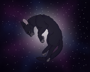 Galaxy Crowfeather by TheRealBramblefire