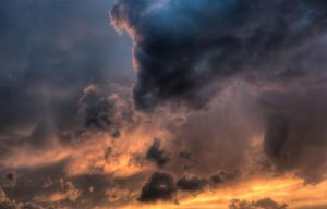 dramatic clouds by wilddoug