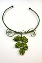 Leaves necklace by nimuae