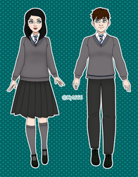 Aubrey and Clover - Character Sheet - Fullbody by Kyt666