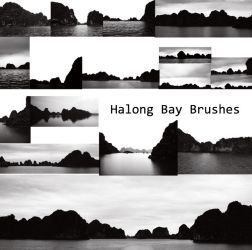 Halong Bay Brushes by prudentia