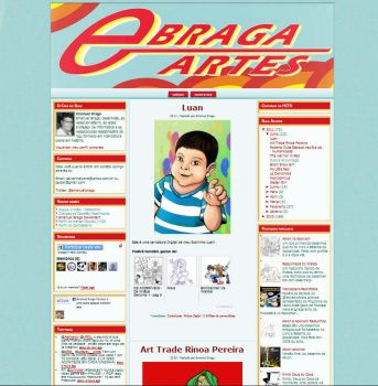 Template Blogger Ebraga Artes by ullissescastro