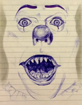 Pen Scribbling part. 5 (Pennywise) by sciamachy1979