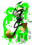 Green is menacing by Asthetic-glitterz