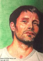 Mads Mikkelsen 2   Hannibal      Colored Pencil by lemgras330