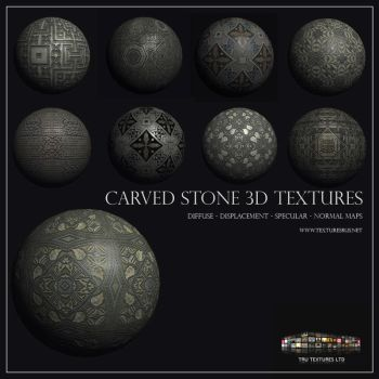 Ornamental Stone Textures 3D by roseenglish