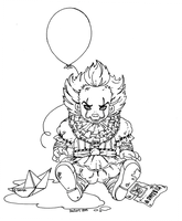 Baby Pennywise - Lineart by JadeDragonne