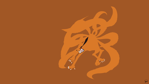 Kurama (Naruto) Minimalist Wallpaper by greenmapple17