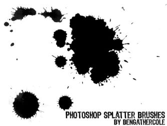 Photoshop 'Splatter' Brushes by BenGathercole