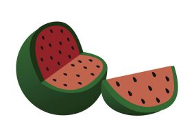 Watermelon Vector Illustration by superawesomevectors