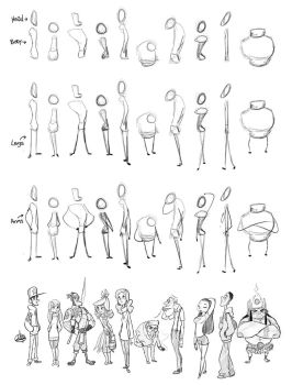 Character Sketch Process by LuigiL