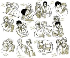 HP Ship Sketchdump by elontirien