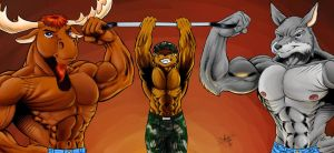 MFF11 - Muscle Trio - Final by Pegasus316