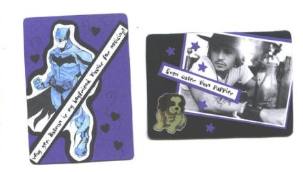 ATCs in Blue by MuseumGirl