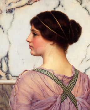 Godward A Grecian Lovely c1909 Super Hi Res by Calilasseia