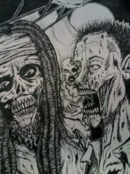 Zombies vs Undead Pirates! by TheDisappearing