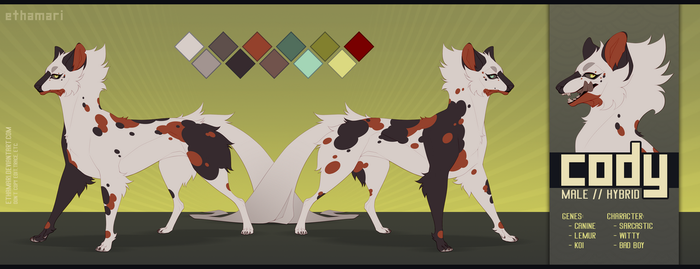 - Cody Aston Reference Sheet | Feral by Ethamari