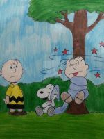 Snoopy and the Blanked by maskedsmurf