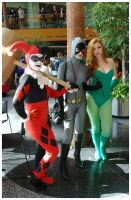 Youmacon 2011: Harley, Catwoman, Poison Ivy by LadyEmrys