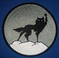 Wolf Embroidered Patch (Fantastic Mr. Fox) by Spaceguy5