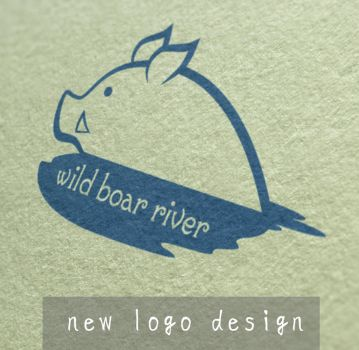 Wild boar river new logo design by JillianEdward