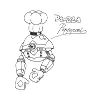 P1-22a, Pepperoni the Pizza Unit by CyberMaroon
