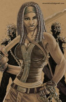 Michonne by Darkness33