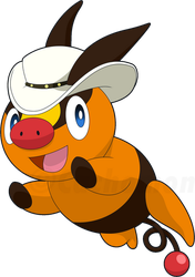 Tepig with Hat by Cachomon
