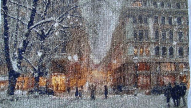 Winter in Helsinki cross stitch by Anim-Soul