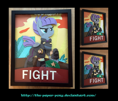 11X14 War Maud Pie Poster Shadowbox by The-Paper-Pony