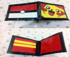 Duct Tape Wallet : Pikachu by areica