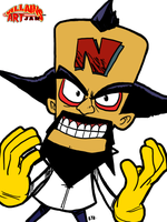 VillainsArtJam 2015_08 Doctor N. Cortex by theEyZmaster