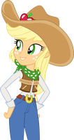 Cowgirl Applejack by CloudyGlow