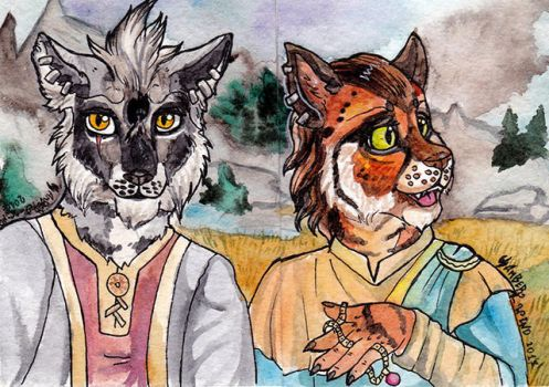 Khajiits aceo by Amber-Wind