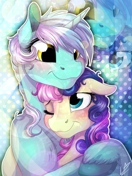 Couple Cuddles by LupiArts
