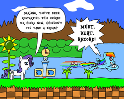 Day 18: Rainbow Dash Racing the Time Attack by BJDazzle