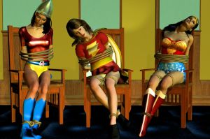 JSA gals by CaptainZammo
