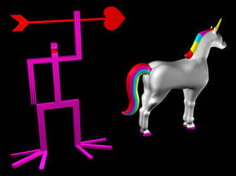 man stab unicorn 3d by strangenotes